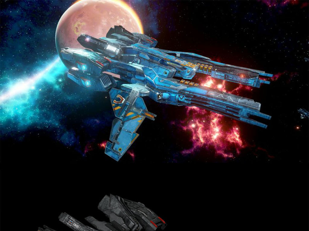 科幻战舰太空战斗机