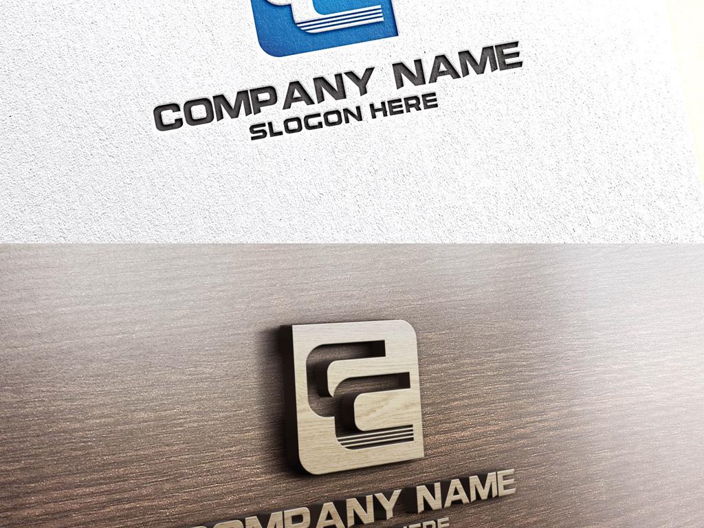 c字母蓝色简约大气logo设计c字母标志图片