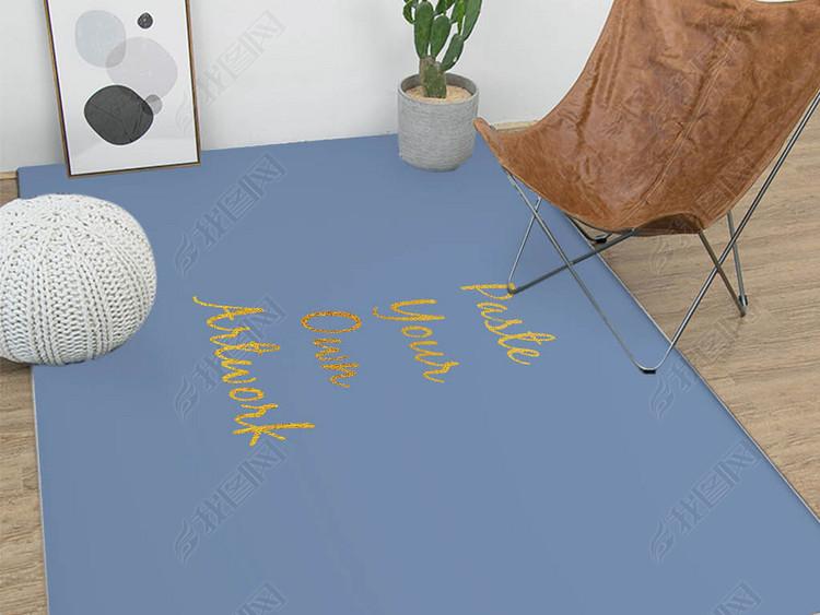 客厅沙发茶几地毯效果图样机场景