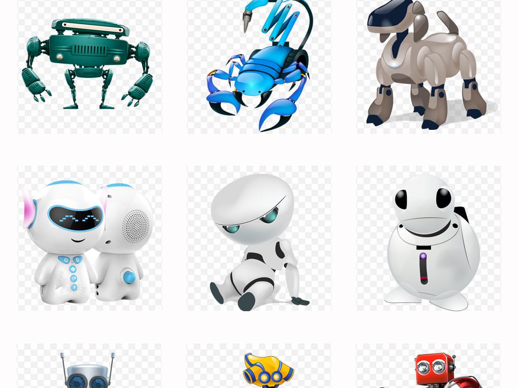 机械机器人机器手人工智能狗科技海报png免扣素材