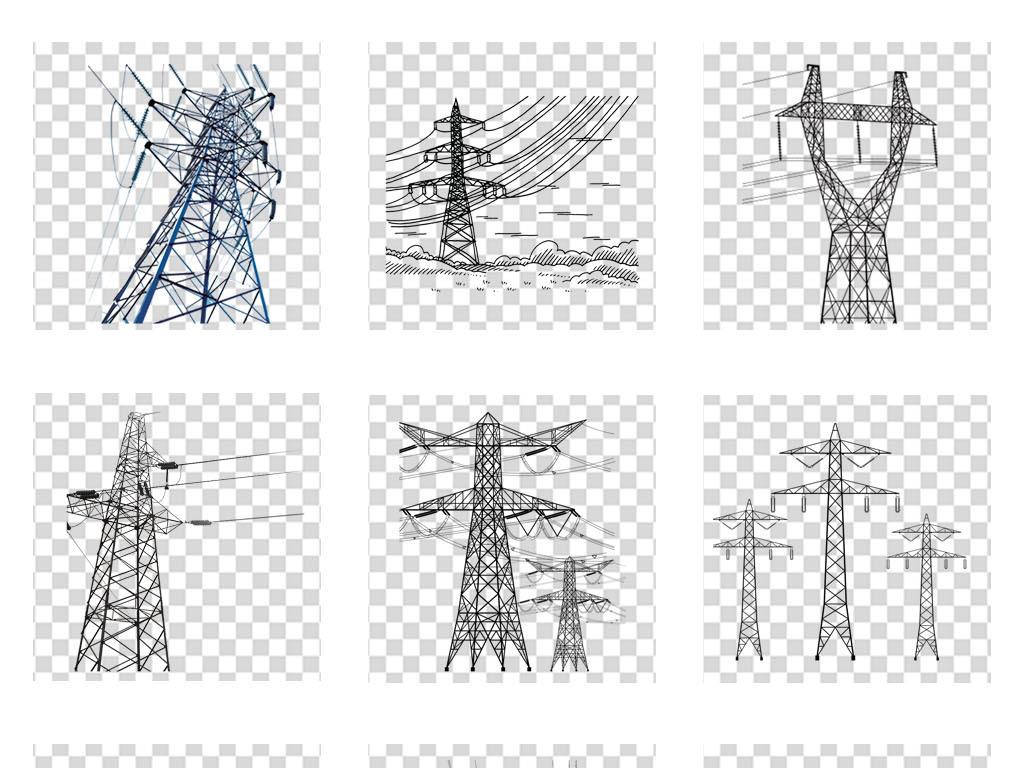 安全用电力知识电线杆海报宣传栏png素材图片