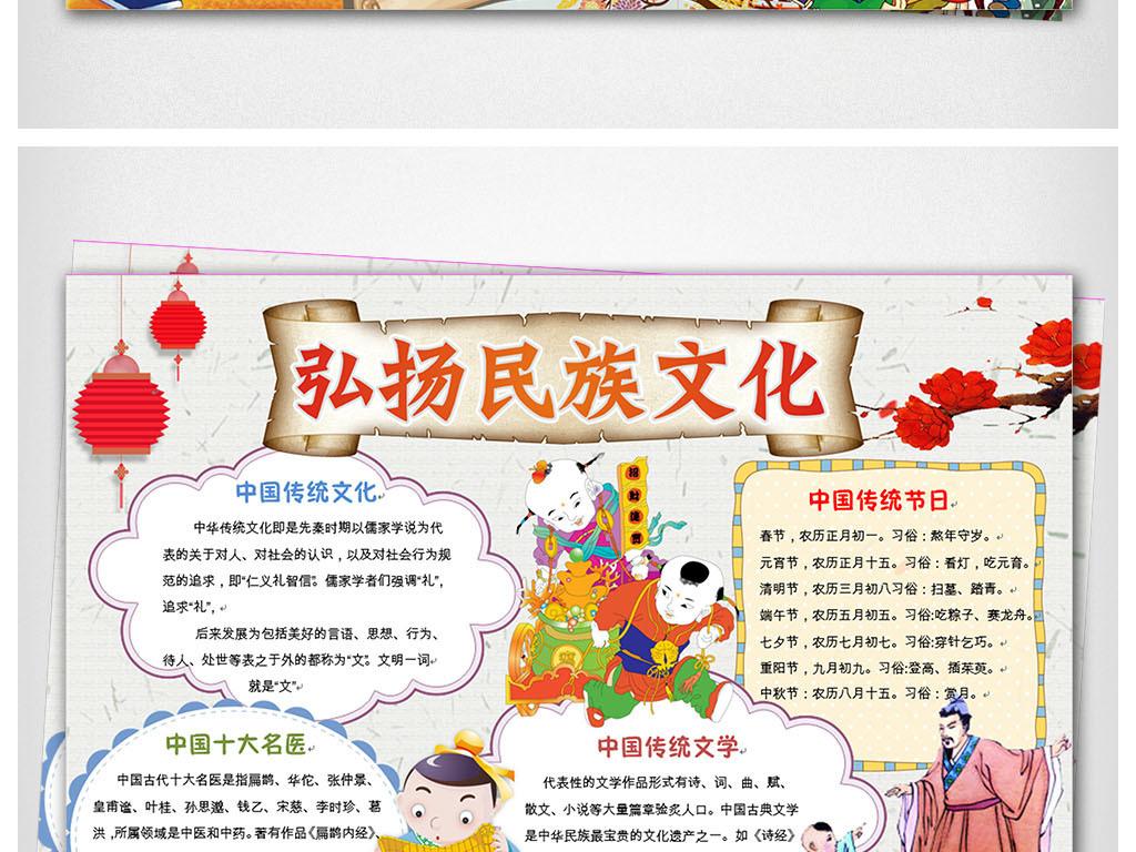 两套弘扬传统文化小报中华美德手抄报电子小报