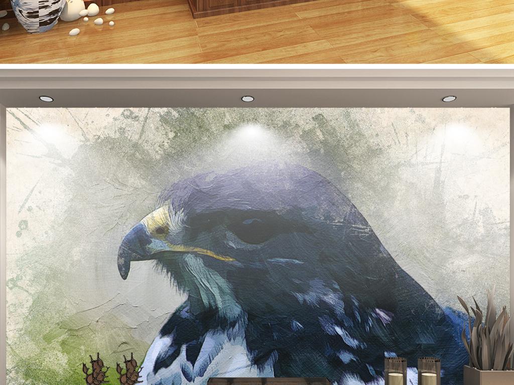 泼墨雄鹰手绘颜料图片设计素材_高清模板下载(41.24mb