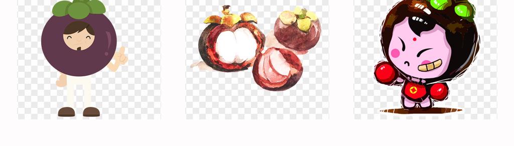 免扣元素 生活工作 食物饮品  > 可爱卡通山竹手绘新鲜山竹水果海报设