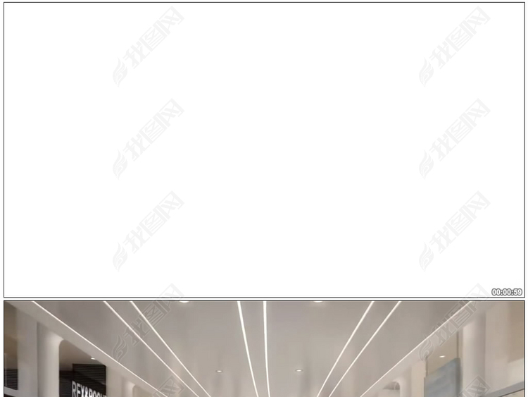 3D动画韦斯特菲尔德购物中心大型商场电梯