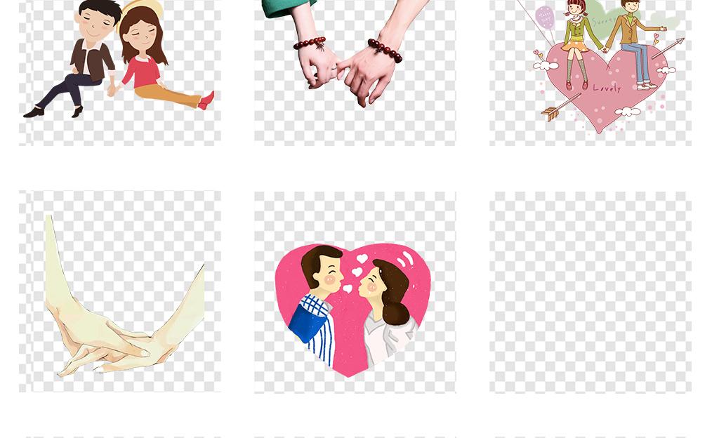 情侣情人节手牵手手拉手png透明图片素材