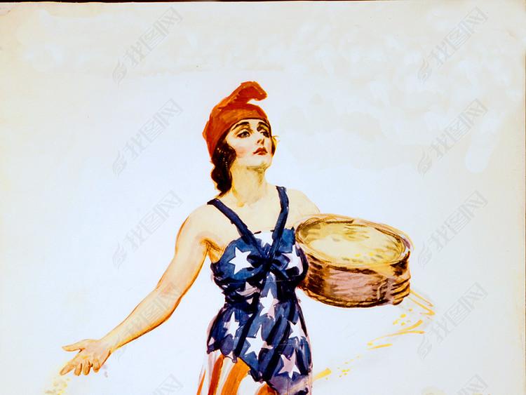 美式油画海报