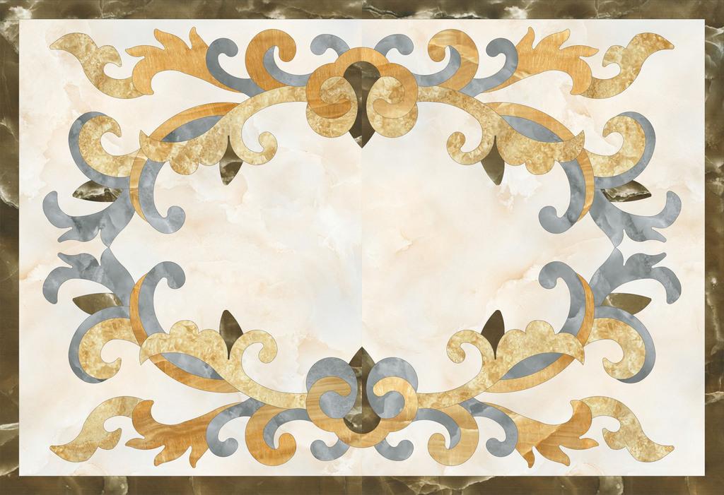 客厅欧式地面瓷砖拼花图片