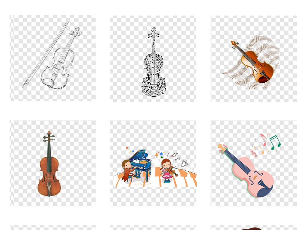 小提琴培训招生儿童音乐音符png透明素材图片