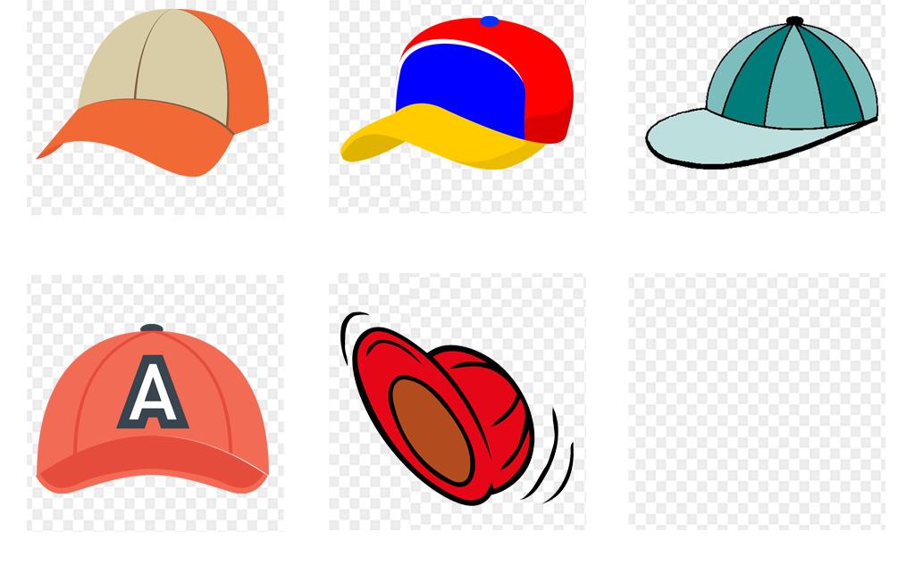 卡通手绘可爱帽子遮阳帽png免扣素材