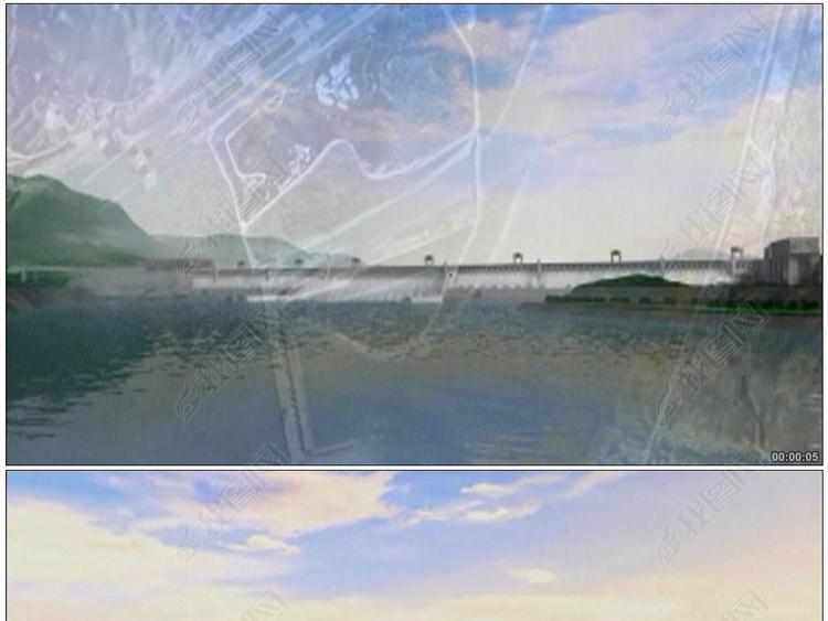 三峡大坝三维动画三峡三峡大坝水电站宜昌