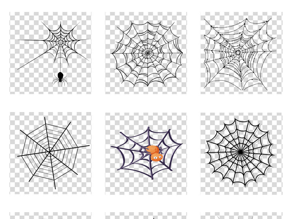万圣节蜘蛛网鬼屋海报背景宣传栏png素材