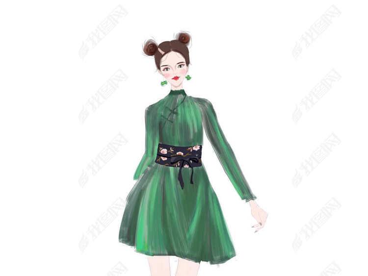 ps插画服装设计