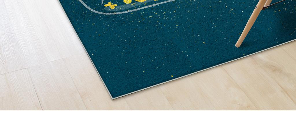 家居图案 地板|地毯 地毯 > 手绘卡通星星许愿瓶儿童房客厅卧室地毯