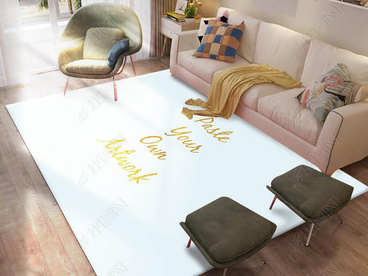 北欧时尚客厅沙发茶几地毯样机