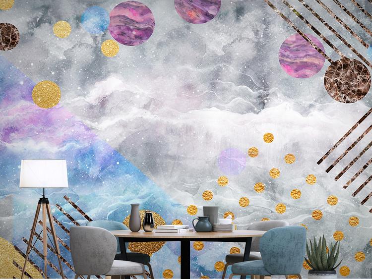 北欧现代简约电视背景墙几何装饰画