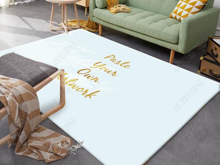 现代北欧定制地毯样机贴图效果图