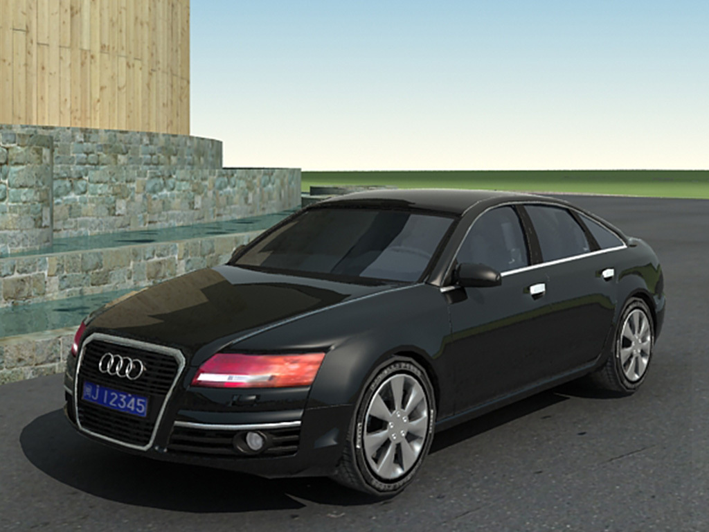时尚奥迪汽车模型设计交通工具汽车模型素材