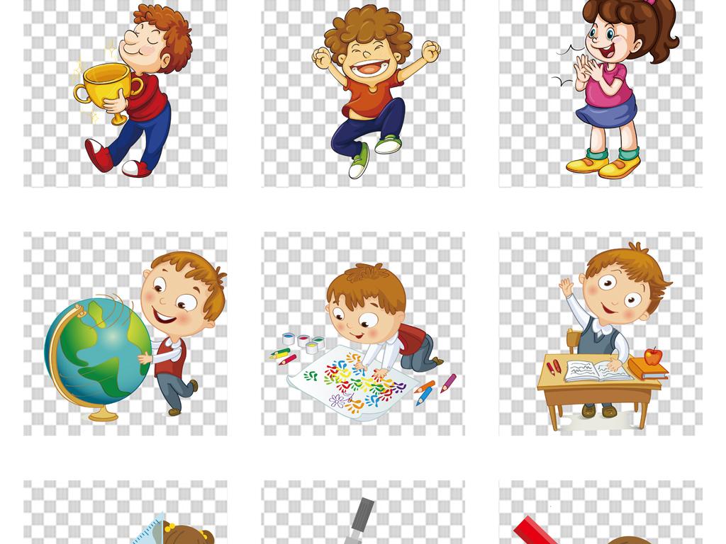 卡通儿童小提琴培训招生png透明素材图片
