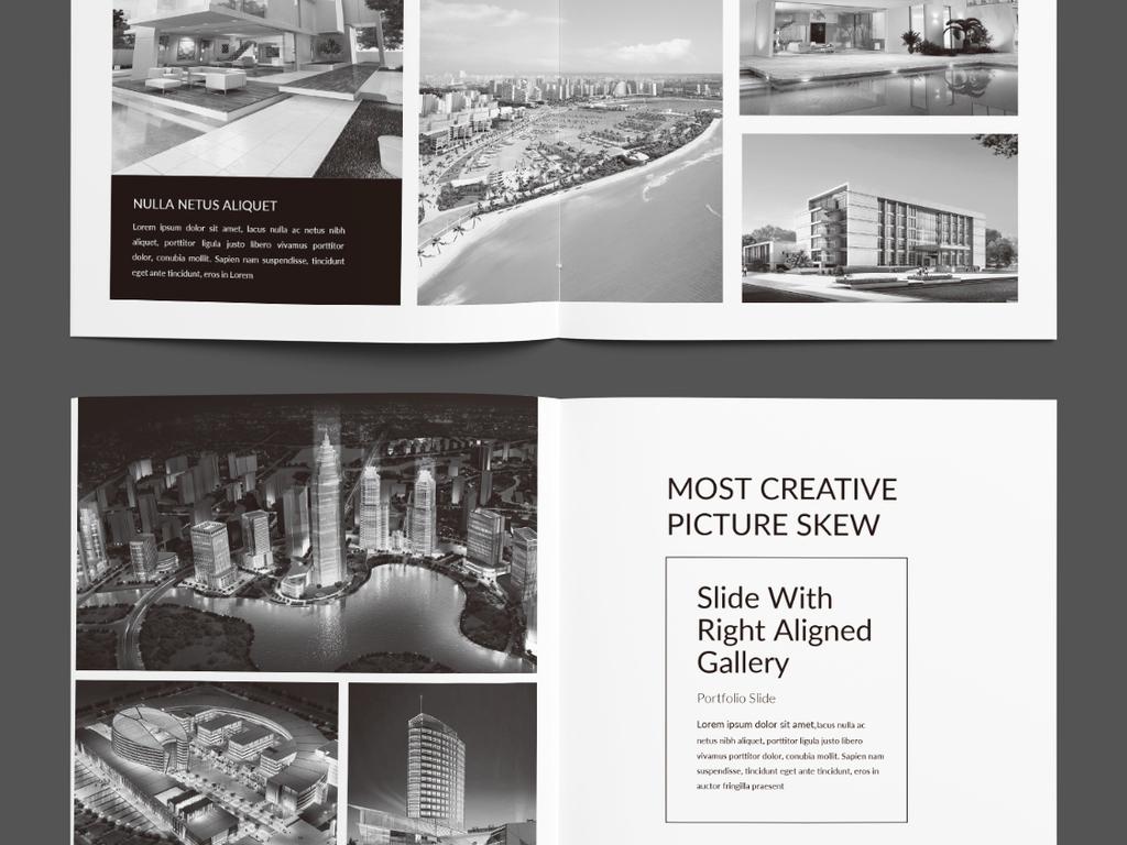艺术设计毕业设计作品集模板图片