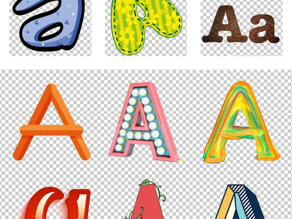可爱卡通字母A波纹波点花纹糖果英文大写字母图片设计素材 高清模板下载 20.55MB 英文艺术字大全