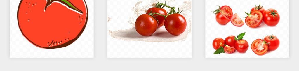 卡通手绘番茄西红柿水果蔬菜海报png免扣素材