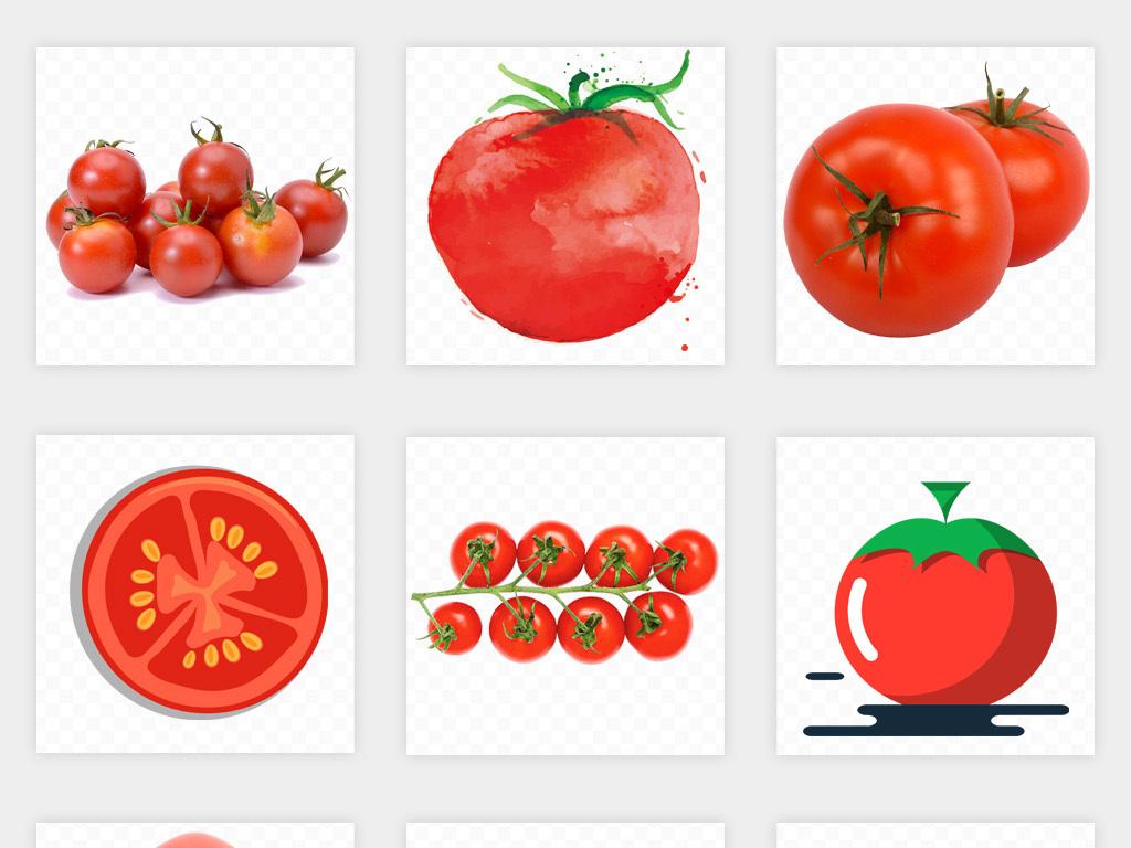 免扣元素 生活工作 食物饮品  > 卡通手绘番茄西红柿水果蔬菜海报png