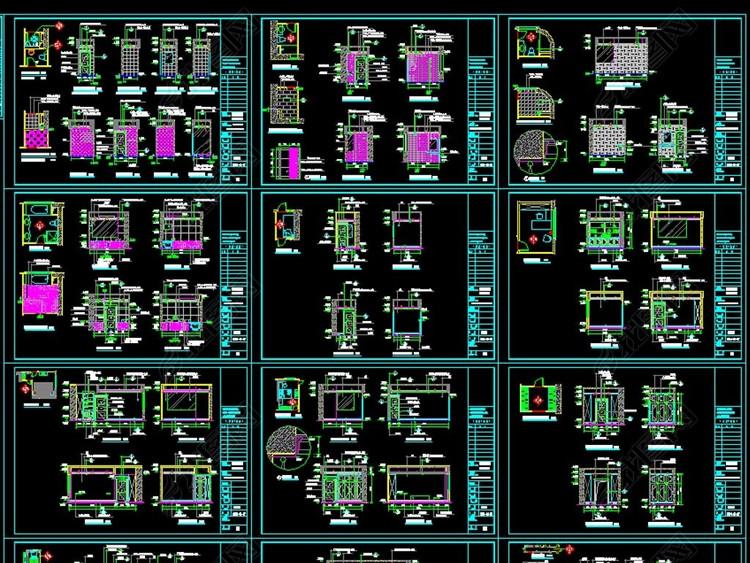 全套家装工装CAD详图