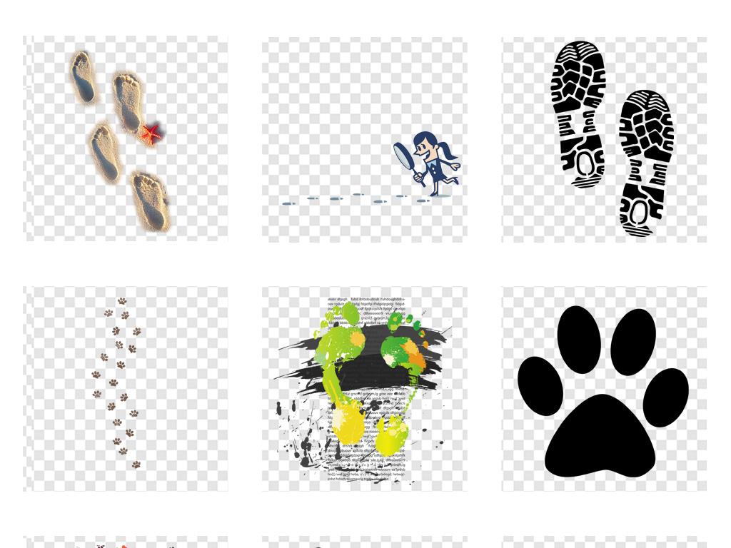 脚印图片双脚                                          动物脚印