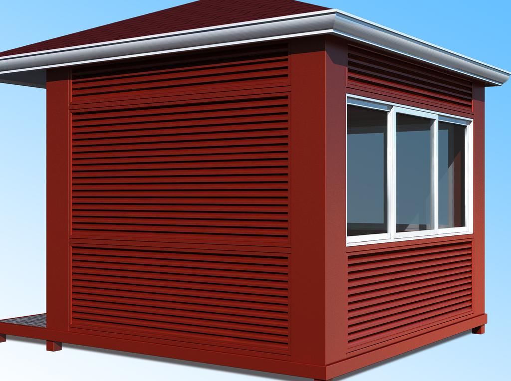 售货亭防腐木                                          玻璃钢结构