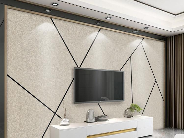 北欧简约个性抽象几何线条方块电视背景墙