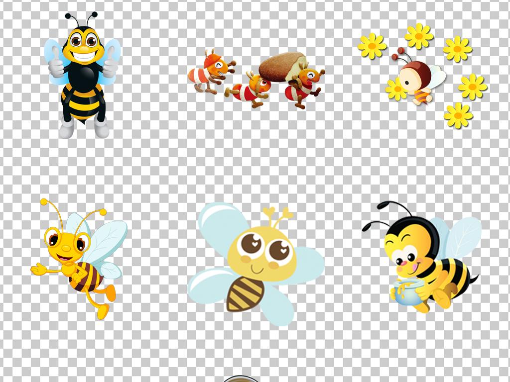 0611小蜜蜂可爱卡通手绘蜜蜂免抠素材