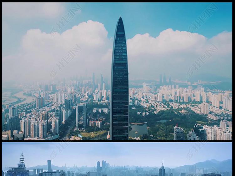 深圳城市建设延时风光商务宣传片视频素材