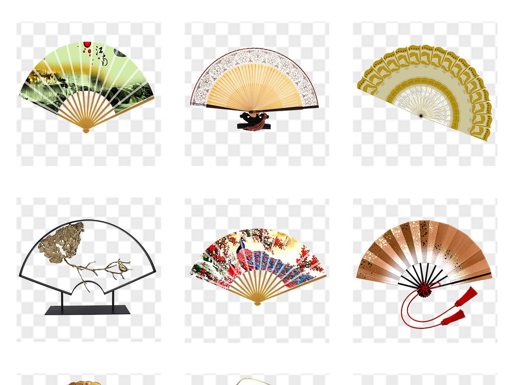 中国风扇子png