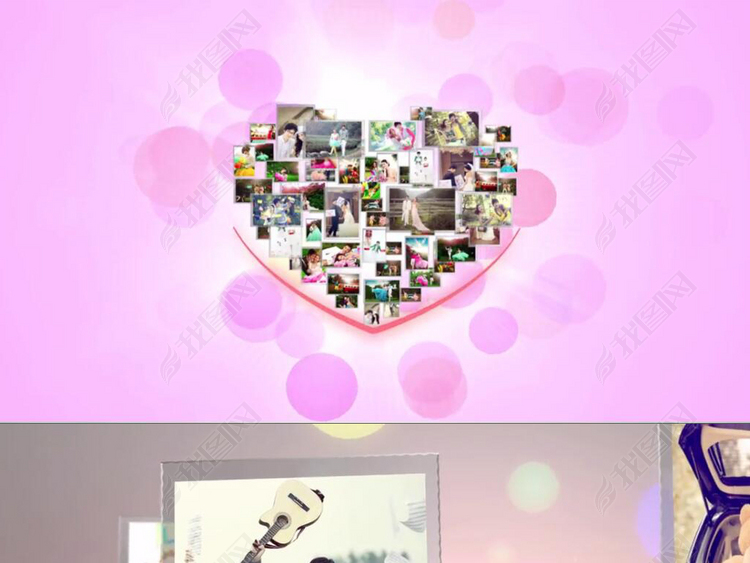 MyLove唯美婚纱照电子相册AE模板