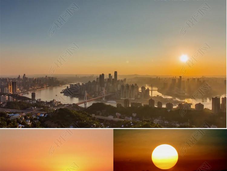 日出日落延时摄影高清素材