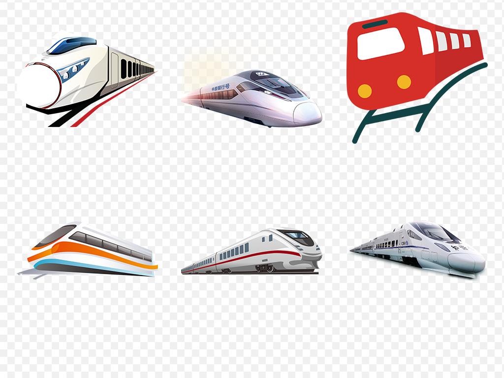 卡通火车动车高铁图片海报素材背景png