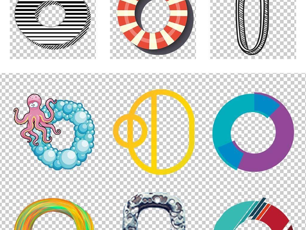 立体手绘创意卡通幼儿园字母o字体设计图片素材_高清
