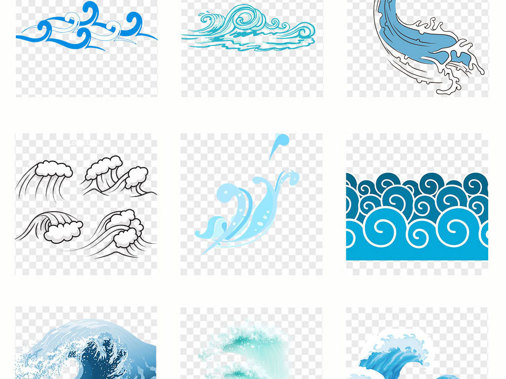 中国古典图案                                          海浪花纹