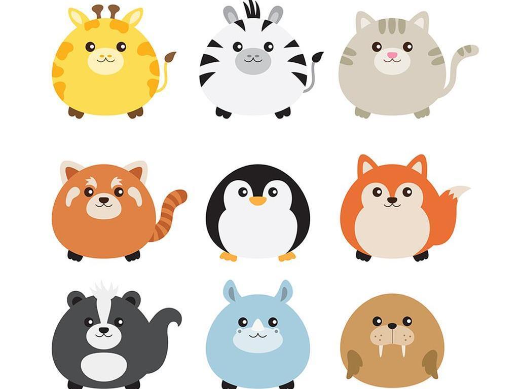 q版动物小报素材卡通可爱卡通素材动物素材动物卡通卡通动物动物素材