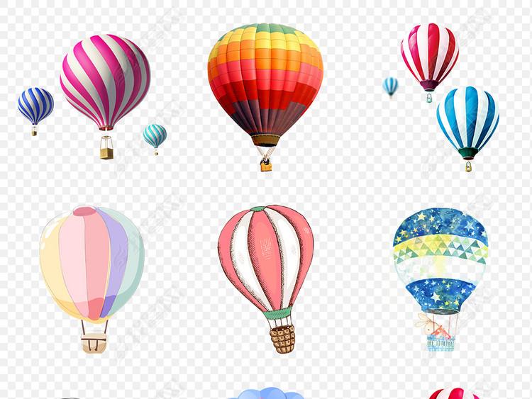 节日喜庆气球组合热气球海报素材背景PNG