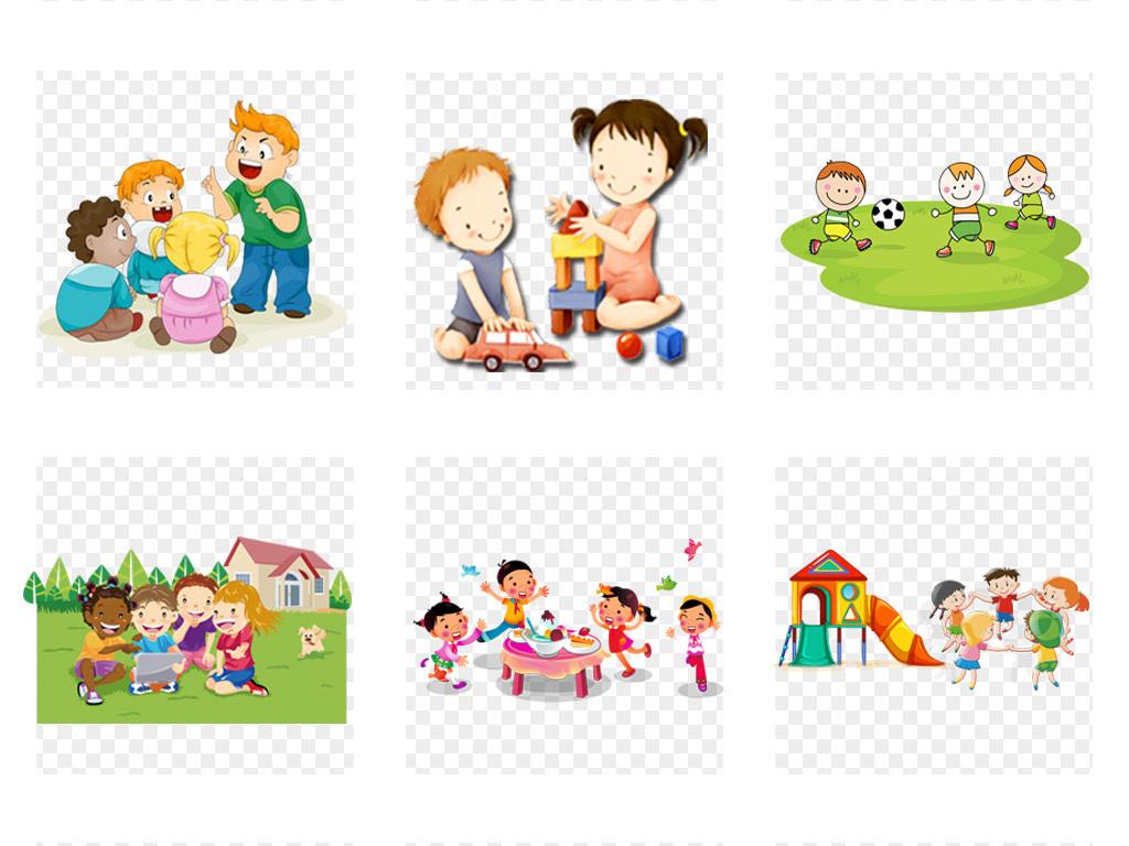 50款六一儿童节卡通小学生儿童幼儿玩耍png免扣素材