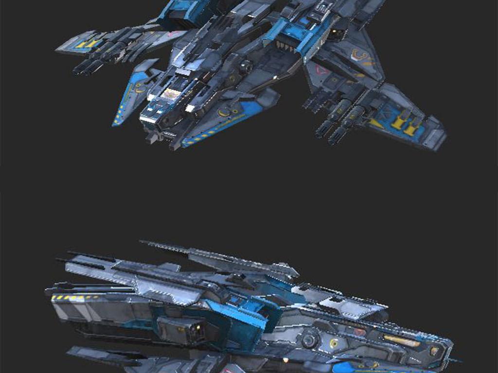 科幻战舰宇宙战机科幻飞船设计图下载 图片24.08MB 车辆库 CG模型图片