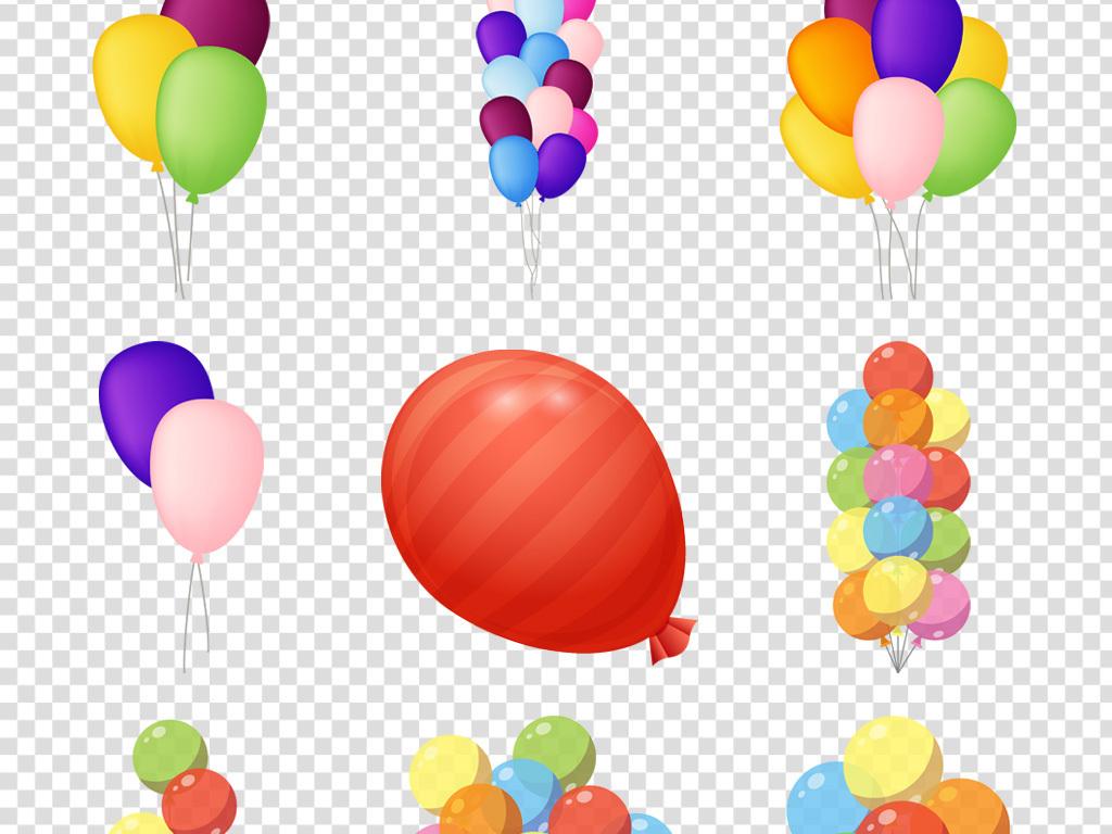 卡通彩色气球png图片免抠素材