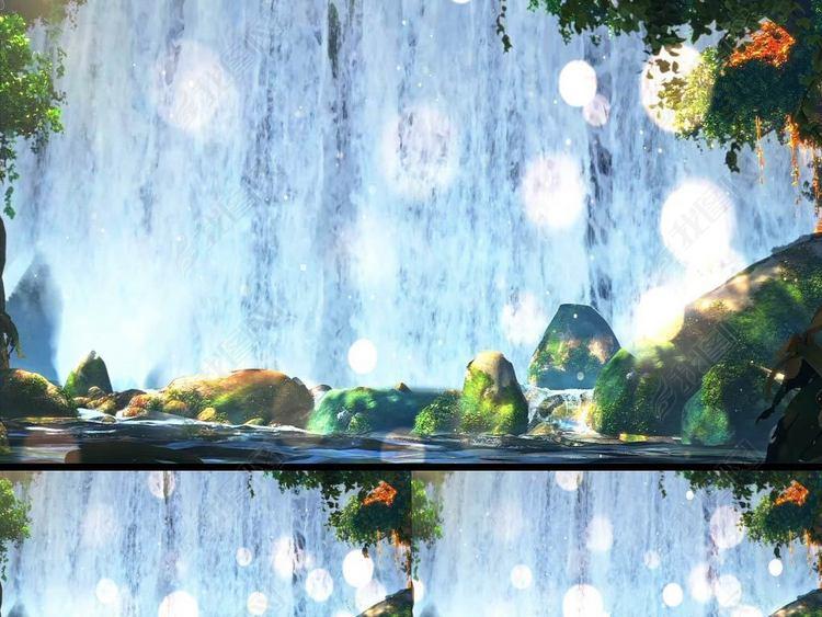 3D唯美梦幻卡通森林舞台视频森林系列04