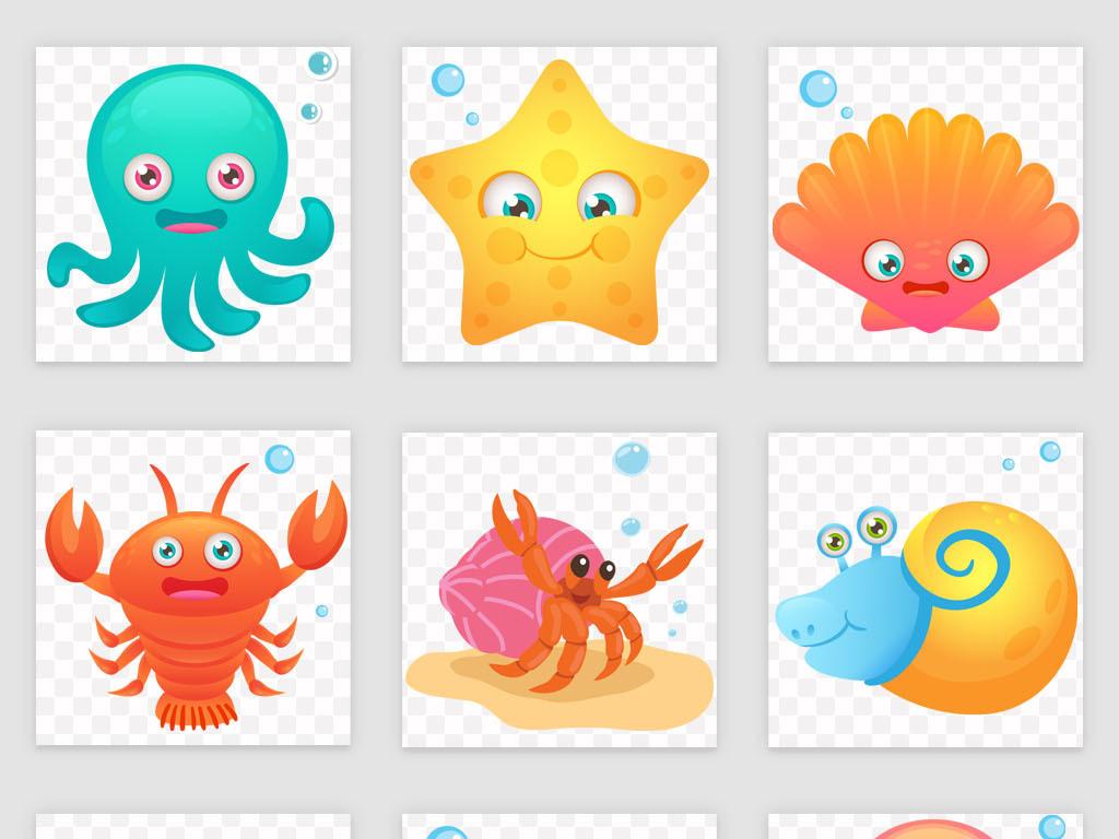 海底世界简笔画带颜色_海底世界儿童画
