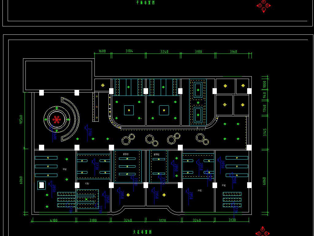 咖啡厅cad装修设计图平面图下载(图片0.51mb)_餐厅cad
