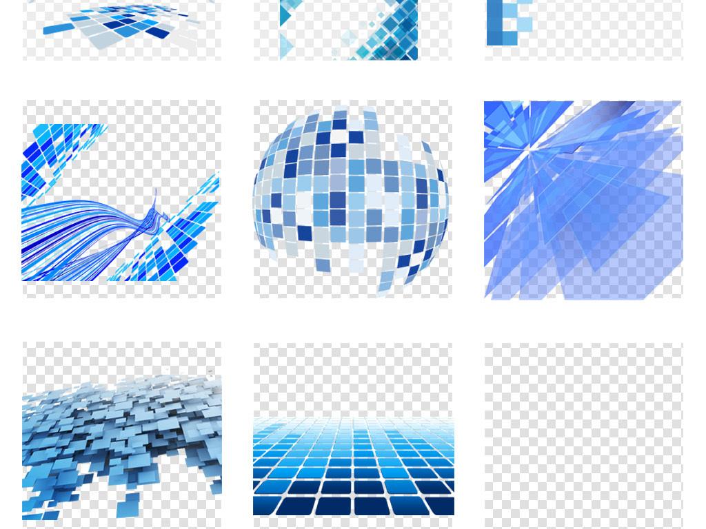 科技框格子正方形电路板立