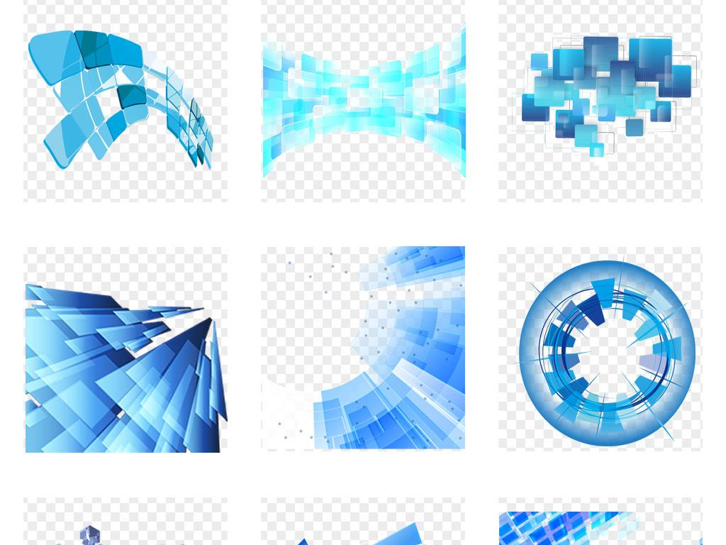 科技框格子正方形电路板立体