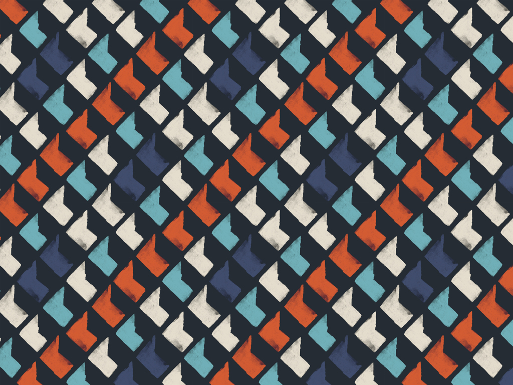 微型几何图案印花图片